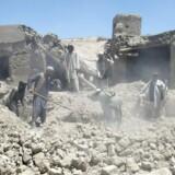Et luftangreb ramte tidligere på måneden den afghanske provins Logar