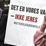 Regeringen vil forbyde brugen af den muslimske burka og niqab i det offentlige rum, og derfor er Justitsministeriet ved at udarbejde et udkast til et lovforslag. (Foto: Jens Nørgaard Larsen/Scanpix 2017)