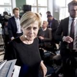 Kulturminister Mette Bock (LA) præsenterer regeringens udspil til et nyt medieforlig i kulturministeriet i København, torsdag den 5. april 2018.
