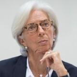 IMF's leder, Christine Lagarde, pointerer, at Storbritanniens økonomi kan vokse, hvis der bliver underskrevet en solid handelsaftale med EU under brexit-forhandlingerne. Scanpix/Stefan Rousseau