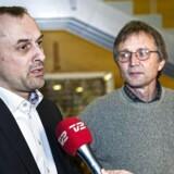 KL-forhandler Michael Ziegler og formand for Danmarks Lærerforening, Anders Bondo Christensen forhandler sidder i øjeblikket til forhandlinger i Forligsinsitutionen.