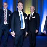 EY Entrepreneur of the Year i Bella Center. Fynske Micro Matic endte med at overstråle alle til Entrepreneur of the Year. På billedet ses vindervirksomhedens repræsentanter; Peter Vejgaard, direktør Søren K. Vilby, Thomas Stenager og Jørn Jensen .Den 24. november 2016.