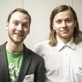 Jesper Aggergaard (tv.) og Ege Jespersen tilbyde personaliseret fysioterapi ved hjælp af virtual reality i Gonio VR.