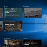 Efter den nye opdatering kan man tage på tidsrejse i Windows 10. Foto: Microsoft