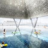 Her ses det store indendørs bassin på hjørnet af Papirøen.
