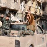 Syriske regeringsstyrker i Albu Kamal.