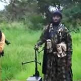 En optagelse af Boko Harams leder, Abubakar Shekau, som tirsdag blev meldt dødeligt såret. Scanpix/Ho