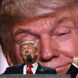 Republikaneren Donald Trump har bl.a. bebudet et opgør med frihandel, hvis han bliver USAs næste præsident, og vinder han, når amerikanerne stemmer i november, vil finansmarkederne blive ramt af global usikkerhed. Arkivfoto: Timothy C. Clary/AFP