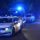 Politibiler ved Nørrebro. Arkivfoto.