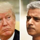 Londons borgmester, Sadiq Khan, havde varslet kæmpedemonstrationer mod Donald Trump under næste måneds besøg - og »den optik brød Trump sik ikke om,« som en af Trumps britiske støttere, Nigel farage, siger.