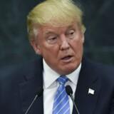 Trump ædt sig ind på Clintons forspring på otte procentpoint, som hun havde for en måned siden. Scanpix/Yuri Cortez