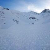 Arkivfoto: Lavine ved Wattener Lizum i de østrigske alper syd for Innsbruck, Austria, 06 February 2016. . EPA/ZEITUNGSFOTO.