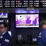 Arkivfoto. Det peger på en rød dag på det amerikanske aktiemarked torsdag. De tre ledende indeks falder fra handelsstart på op til 0,3 pct.