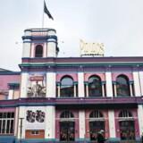 Paladsbygningen er udsmykket af kunstneren Poul Gernes.
