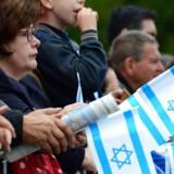 Demonstranter med israelske flag protesterer mod antisemitisme i Tyskland i 2014. Sagen om mobning af en 14-årig jødisk elev har genoplivet debatten om antisemitisme i de berlinske skoler.