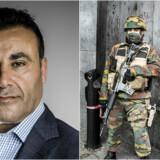 Danskerne kan ligeså godt vænne sig til at se bevæbnede soldater ved festivaler, turistattraktioner og sportsbegivenheder, som det her ses i Bruxelles efter et terrorangreb i 2015, mener Naser Khader.