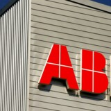 FILE PHOTO - The logo of Swiss engineering group ABB is seen at a plant in Zurich, Switzerland September 29, 2016. REUTERS/Arnd Wiegmann/File Photo