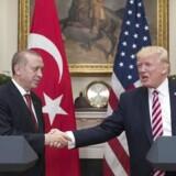 Erdogan og Trump holdt i dag et fælles pressemøde i Det Hvide Hus.