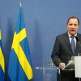 Arkivfoto: Flere svenske partier overveje efter it-læk, om de ønsker at stille et mistillidsvotum mod Stefan Löfvens regering.