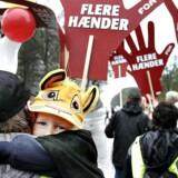 Det er bl.a. en lang række FOA-medlemmer, der er udtaget til strejke.