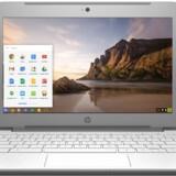Det ligner en normal PC, men det er en bærbar PC (her fra HP) med Googles styresystem Chrome OS på i stedet. Her kan man køre Google-programmer i stor stil, og fordi det meste afvikles fra nettet, skal maskinen ikke have så mange hestekræfter og bliver dermed både billigere og har længere batteritid. Foto: HP