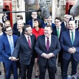 Mandag d. 28. november 2016 præsenterede statsminister Lars Løkke rasmussen sin nye regering for dronningen på Amalienborg. (Foto: Bax Lindhardt/Scanpix 2016)