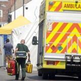 Redningsmandskab ankommer her til John Baker House, et hus til støtte for hjemløse i Salisbury, efter det blev evakueret 6. juli 2018. Politet har undersøgt området, efter en mand og en kvinde blev udsat for nervegift.