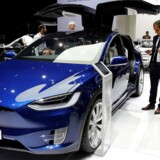 The Tesla Model X car is displayed on media day at the Paris auto show, in Paris, France, September 29, 2016. REUTERS/Benoit Tessier/File Photo