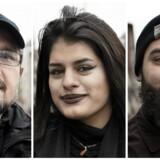 Fra venstre: Ibrahim Al-alak, Nazia Khairkha og Arpak Aso Baban er tre af dem, der torsdag har været oppe i indfødsretsprøven og håber på at blive danske statsborgere.