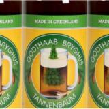 Etiketten til verdens dyreste øl – Tannenbaum fra det lille mikrobryggeri Godhaab Bryghus.