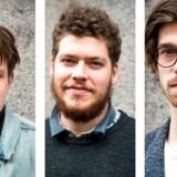 Fra venstre Johan Rasmussen, Lars Graverod og Nicolai Sode (Foto: Sofie Mathiassen)
