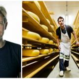 Økologiske afgrøder hører den rige verden til. Til højre lagrer den hollandske landmand Albert Hilbrand oste på sin gård i byen Wezup. Foto: Remko de Waal/EPA