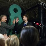 Niko Grünfeld og Uffe Elbæk til Alternativets valgfest på Monastic under kommunal og regionsrådsvalget tirsdag den 21. november 2017.
