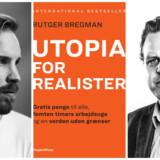 »Rutger Bregman er besynderligt optaget af økonomiske spørgsmål uden at vide noget om dem. I ren ungdomskådhed ironiserer han over målebegrebet BNPs ideelle borger, som angiveligt er en kræftsyg, skilsmisseramt ludoman på nervepiller. Det er hverken sjovt eller den mindste smule rigtigt, hvilket desværre også er meget illustrativt for bogen,« skriver Rune Selsing i sin anmeldelse af »Utopia for realister«.