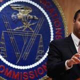 Formanden for de amerikanske telemyndigheder, Ajit Pai, efter vedtagelsen af at afskaffe de tre år gamle regler om netneutralitet. Foto: Alex Wong, Getty Images/AFP/Scanpix