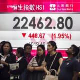 Hang Seng-indekset i Hong Kong er i 2017 steget mere end 35 pct. Foto: Scanpix