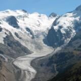 Morteratsch-gletsjeren i Schweiz.