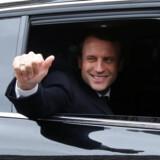 Efterforskere har indledt en undersøgelse af påstået hacking af den franske præsidentkandidat Emmanuel Macrons kampagne, siger en kilde tæt på efterforskningen. Reuters/Jean-paul Pelissier