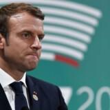 Arkivfoto: Frankrigs præsident, Emmanuel Macron, er indstillet på at holde en hård tone ved et møde mandag med Ruslands præsident, Vladimir Putin, på Versailles uden for Paris.