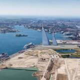 Her ses byggeriet, som risikerer at blive Europas fjerde største, i Nordhavn, København.