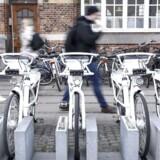 Firmaet bag de hvide bycykler, Gobike, går konkurs. (Foto: Jeppe Vejlø/Scanpix 2017)