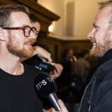 Jonatan Spang til stede ved onsdagens pressemøde på Københavns Rådhus.