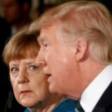 Et stort flertal af tyskerne ser Donald Trump som en trussel mod verdensfreden. Fredag rejser Angela Merkel til Washington for at mødes med den amerikanske præsident.