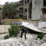 Arkivfoto fra Damascus, Syrien.