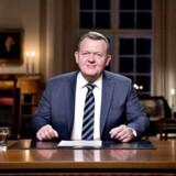 Statsminister Lars Løkke Rasmussen holder nytårstale i Statsministeriet 1. januar 2018. (Foto: Bax Lindhardt/ Scanpix)