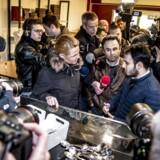 Ali Parnians bageri i Tingbjerg i København har været ramt af hærværk og han får besøg af udlændinge- og integrationsminister Inger Støjberg (V), tirsdag den 23. januar 2018.