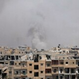 Smoke rises from Raqqa, Syria July 28, 2017. REUTERS/Rodi Said