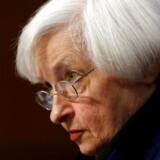 Arkivfoto. Federal Reserves chef, Janet Yellen, skal senere tirsdag og igen onsdag redegøre for centralbankens pengepolitik og bankens syn på den økonomiske udvikling i USA.