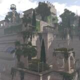 Et digitalt billede af, hvordan man formoder de hængende haver har set ud.