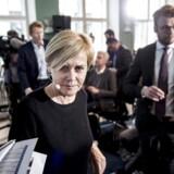 Kulturminister Mette Bock (LA) præsenterer regeringens udspil til et nyt medieforlig i kulturministeriet i København, 5. april 2018.
